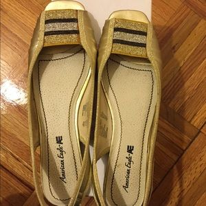 American Eagle Outfitters Shoes - American Eagle Open-toe Flats- Size 7