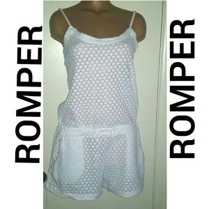 Pants - 🎉HP🎉 White Romper (Beach Coverup)