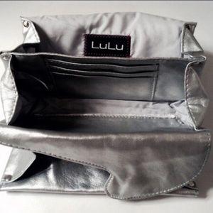 LuLu Handbags - LuLu  Silver Pewter Soft Clutch Bag Prom