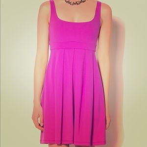 Susana Monaco pleated tank dress in hot pink