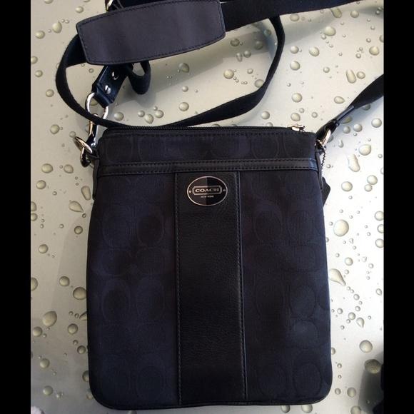72% off Coach Handbags - AUTHENTIC Coach Black Sling Bag ...