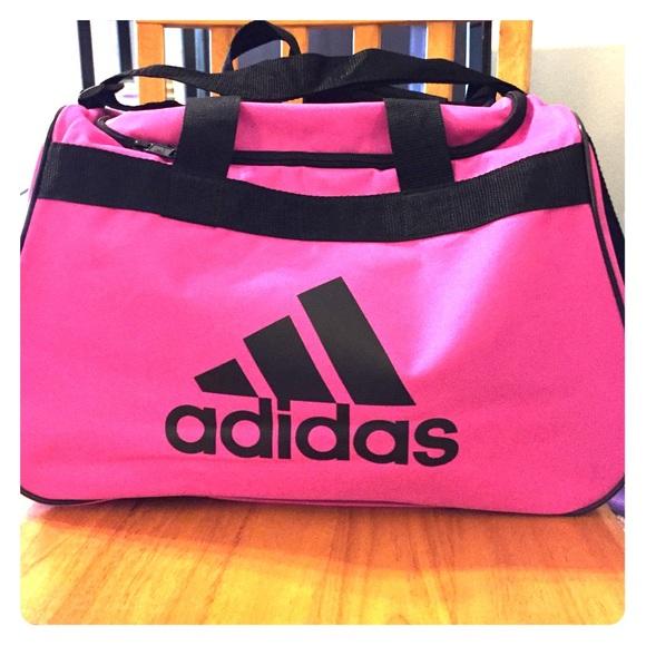 Adidas Handbags - Adidas Diablo hot pink black duffel bag small e312e5544909e