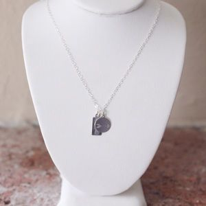 Sterling Silver Duo Tag Necklace