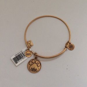 Alex and ani paw print bracelet
