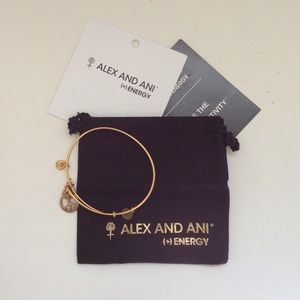 Alex and ani peace sign bracelet
