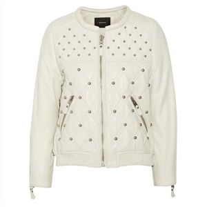 Isabel Marant Studded Quilted Leather Bomber
