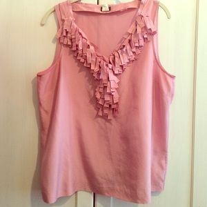 J. Crew Tops - pretty in pink top 👚