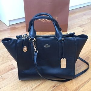 Brand new Black Coach Crosby Bag