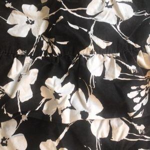 Roxy Skirts - Roxy Ruffle Black & White Floral Skirt - XL