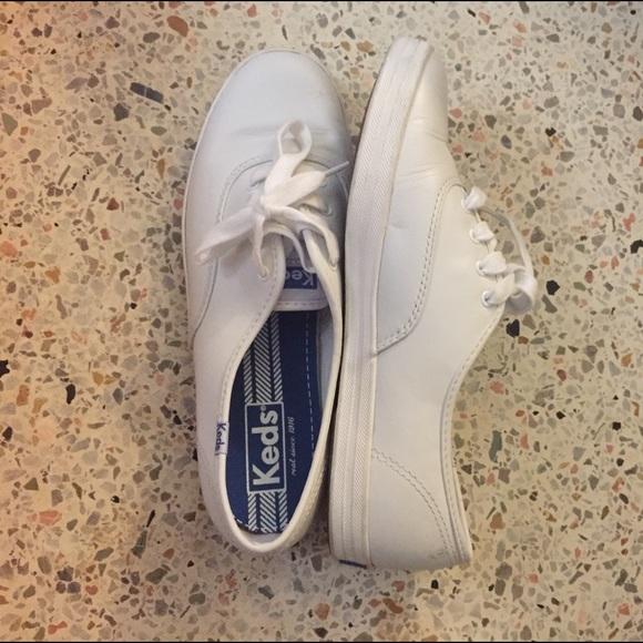 leather keds white