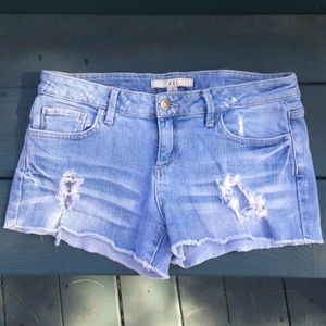 50% off Forever 21 Pants - White ripped up jean shorts from ...