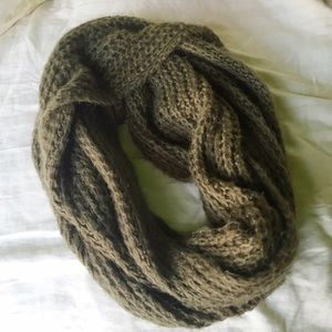 Cotton on olive green infinity scarf