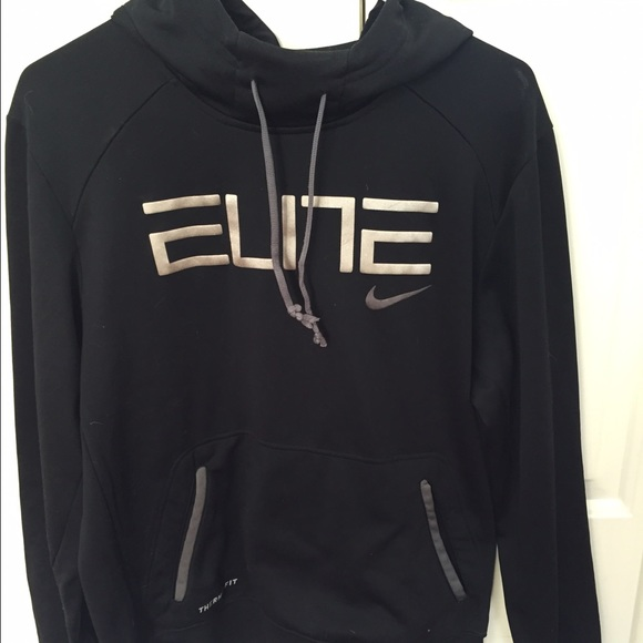 Medium Black Nike Elite Men's Sweatshirt f76byIgvY