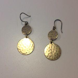 Gold Toned Drop Earrings