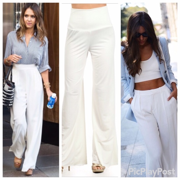 26 Off Fashion Chic Pants �� White Palazzo Pants From Kat S Closet On Poshmark