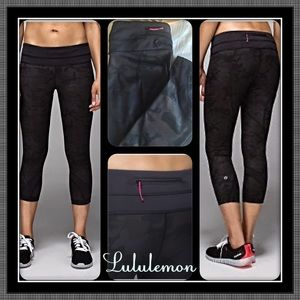 a485fa303 lululemon athletica Pants - SALE 🆕 Lululemon Camo Run Inspire Crop LUXTREME