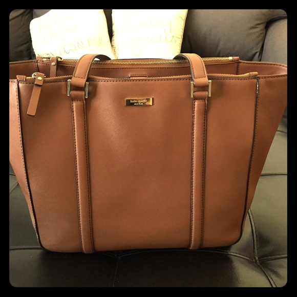 price remains stable finest selection top design Kate Spade Newbury Lane Brown Leather Tote! 😊