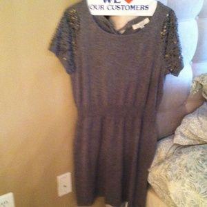 Knit Gray Dress