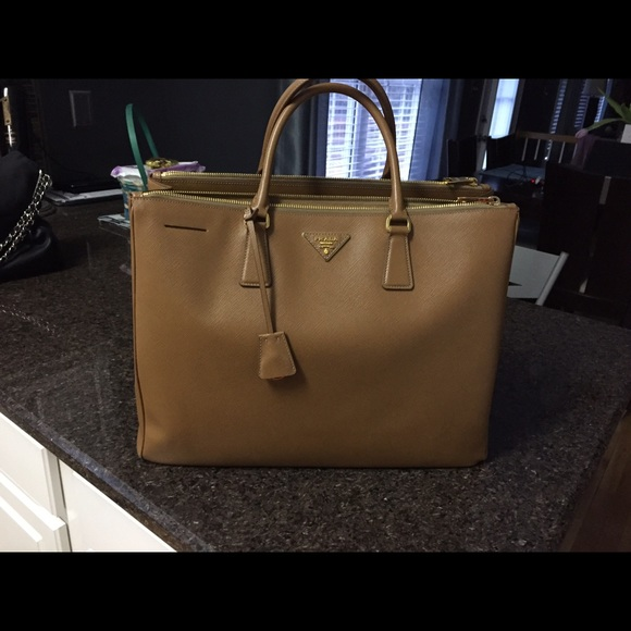 d1c693f938a8dd Prada Bags | Saffiano Double Zip Executive Tote | Poshmark