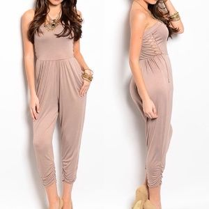 Pants - SALE || TAUPE STRAPLESS JUMPER 5⃣⭐️ RATED |