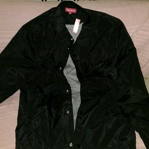 Supreme Jackets Coats International Coaches Jacket Black Ss15