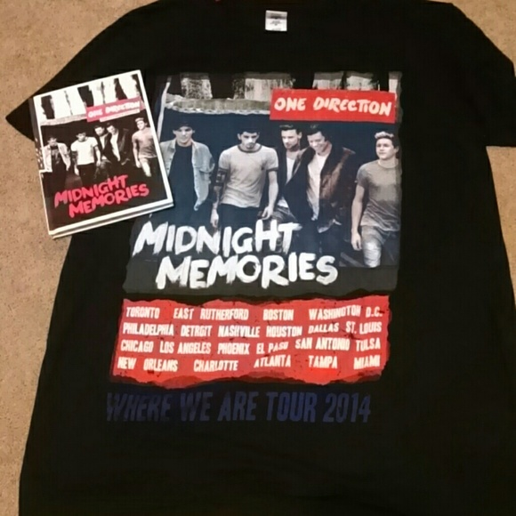 One Direction tour shirt/Midnight Memories album
