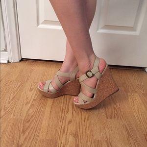 ALDO Shoes - Bone wedge sandal
