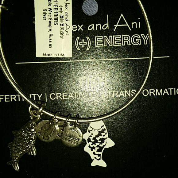 $32 Retired Authentic Alex and Ani U.S Marines  Russian Gold Charm Bangle