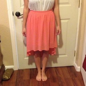 Forever 21 Dresses & Skirts - Coral high/low skirt