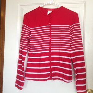 Sweaters - Red stripped sweater