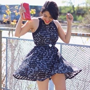 Trixxi Girl Dresses - Floral & Lace Skater Dress
