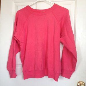 Sweaters - Pink crew neck sweatshirt