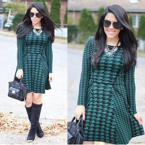 Torn by Ronny Kobo Dresses & Skirts - Torn By Ronny Kobo Houndstooth Dress
