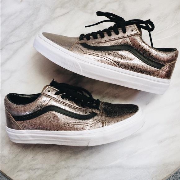 d9b7e4bf1f ✨SALE  39✨Vans Metallic Bronze Old Skool Sneakers