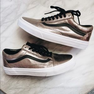 ✨SALE $39✨Vans Metallic Bronze Old Skool Sneakers
