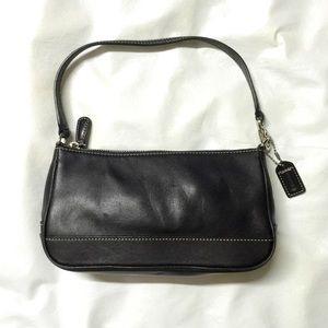 Auth COACH 7785 leather black purse