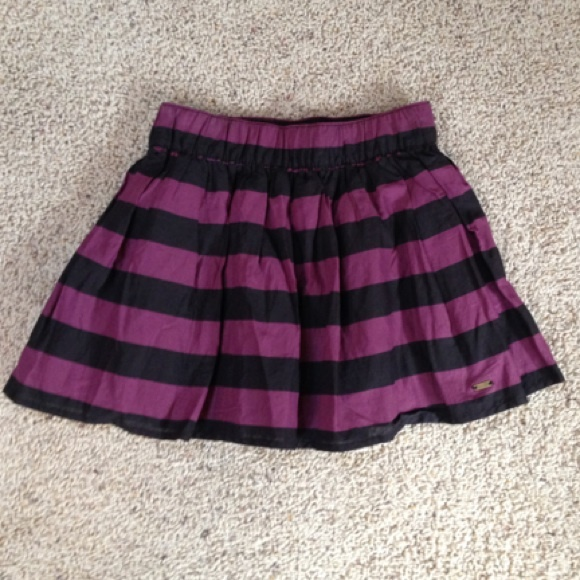 H&M - Divided H&M black and purple striped mini skirt from Malia's ...