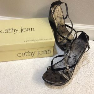cathy jean sandals/wedges