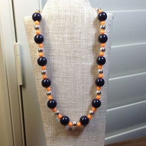 Jewelry - Orange and Blue Necklace that stretches
