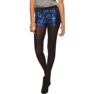 Forever 21 - Black & Blue sequin shorts. from Anastasia's closet ...