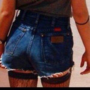 High waisted wranglers