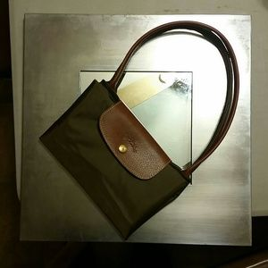 Brand new forest green large tote Longchamp