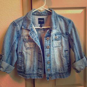 85% off Jackets &amp Blazers - Half blue jean jacket !! Denim baby