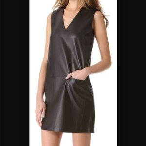 Vince Black Leather Dress
