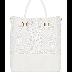 New MARLON White Tote Bag