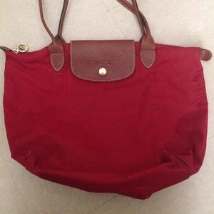 Women's Longchamp 'Small Le Pliage' Tote - Red