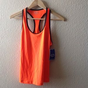 Game Time, bright orange workout top. NWT!