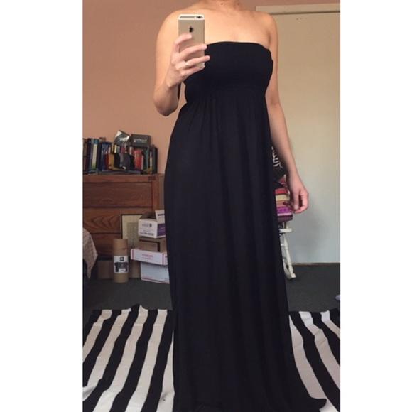 H m maxi dress black dc