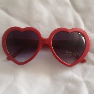 Red Heart Shaped Sunglasses