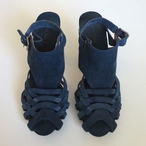 Nine West Shoes - Navy Suede Sandals